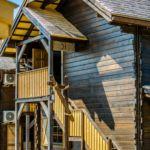 Domek drewniany 6-osobowy na piętrze Przyjazny podróżom rodzinnym