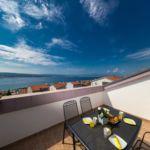 Apartament 4-osobowy Lux z widokiem na morze z 2 pomieszczeniami sypialnianymi