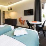 Apartament 2-osobowy z klimatyzacją z aneksem kuchennym z 1 pomieszczeniem sypialnianym