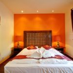 Apartman s manželskou postelí s 1 ložnicí s výhledem do dvora v přízemí (s možností přistýlky)