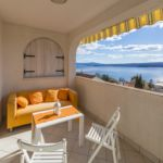 Apartament cu aer conditionat cu vedere spre mare cu 1 camera pentru 2 pers. (se poate solicita pat suplimentar)