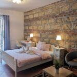 Premium 1-Zimmer-Suite für 4 Personen mit Aussicht auf die Burg