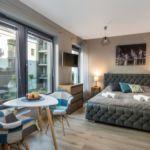 Art Apartman s manželskou postelí s 1 ložnicí s výhledem do zahrady