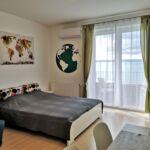 Apartament 2-osobowy z panoramą z widokiem na jezioro z 1 pomieszczeniem sypialnianym (możliwa dostawka)