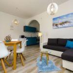Légkondicionált teraszos 3 fős apartman 1 hálótérrel
