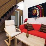 Apartament cu aer conditionat cu terasa cu 4 camere pentru 8 pers.