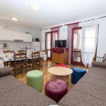 3-Zimmer-Apartment für 7 Personen Obergeschoss mit Aussicht auf das Meer