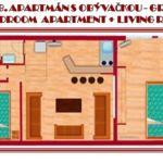 6.  Apartmán pre 3 os. s 2 spálňami (s možnosťou prístelky)