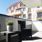 Apartament standard cu balcon cu 2 camere pentru 4 pers.