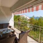 3-Zimmer-Apartment für 5 Personen Obergeschoss mit Aussicht auf das Meer