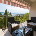 3-Zimmer-Apartment für 6 Personen im Dachgeschoss mit Aussicht auf das Meer