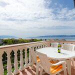 Apartman s klimatizací pro 5 os. se 2 ložnicemi s výhledem na moře