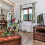 Apartament la parter cu aer conditionat cu 1 camera pentru 4 pers.