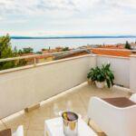 Apartament 5-osobowy na poddaszu z widokiem na morze z 2 pomieszczeniami sypialnianymi