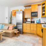 Apartament 2-osobowy na parterze z tarasem z 1 pomieszczeniem sypialnianym (możliwa dostawka)