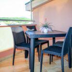 Apartament cu aer conditionat cu terasa cu 1 camera pentru 3 pers. AS-18054-b