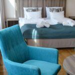 Apartman s manželskou postelí s 1 ložnicí s výhledem na město na poschodí