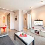 Studio 1-Zimmer-Apartment für 2 Personen mit Badewanne (Zusatzbett möglich)