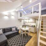 Apartament 4-osobowy na poddaszu Studio z 2 pomieszczeniami sypialnianymi