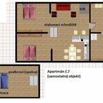 Zuhanyzós saját teakonyhával 4 fős apartman (pótágyazható)