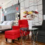 Lux Suita s manželskou postelí s 1 ložnicí s výhledem na moře (s možností přistýlky)
