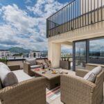 Penthouse Suita s terasou s manželskou postelí s 5 ložnicemi (s možností přistýlky)
