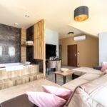 Apartament deluxe la etaj cu 1 camera pentru 2 pers. (se poate solicita pat suplimentar)
