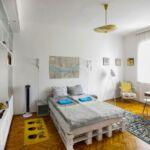 1-Zimmer-Apartment für 2 Personen Obergeschoss mit Aussicht auf den Garten