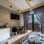 Apartament 2-osobowy z łazienką z widokiem na góry z 1 pomieszczeniem sypialnianym