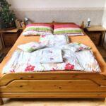 Pokoj tV s plochou obrazovkou s manželskou postelí v přízemí
