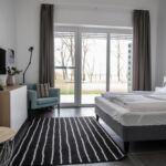 Apartament familial(a) cu vedere spre lac cu 1 camera pentru 2 pers. (se poate solicita pat suplimentar)