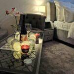 Földszintes fürdőszobás franciaágyas szoba