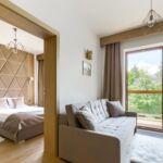 Apartman s balkónem pro 4 os. se 2 ložnicemi s výhledem na hory