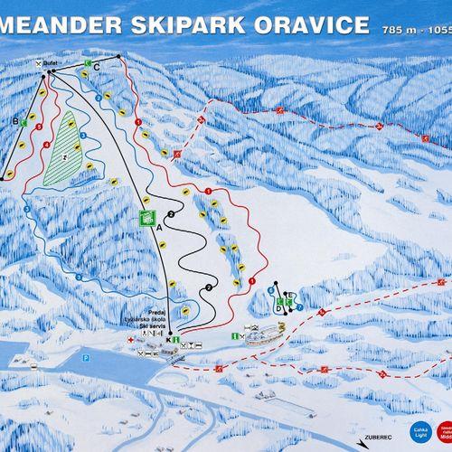 Lyžiarske stredisko Meander Skipark Oravice