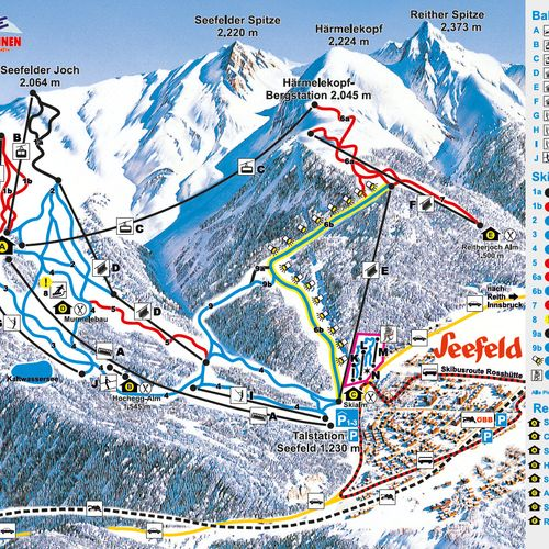 Ski Arena Seefeld - Reith - Rosshütte & Härmelekopf